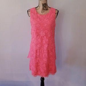 🆕️ NWT Jessica Simpson | Coral Lace Ruffle Dress